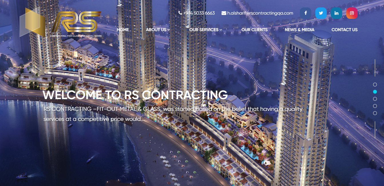 RS CONTRACTING  METAL & GLASS WORKS